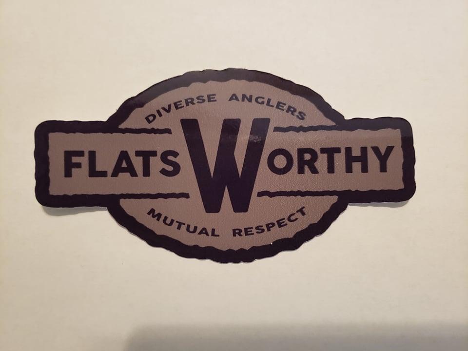 Flatsworthy Logo Sticker 5 Sage And Navy Flatsworthy Inc
